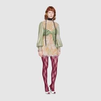 Gucci Embroidered tulle mini dress
