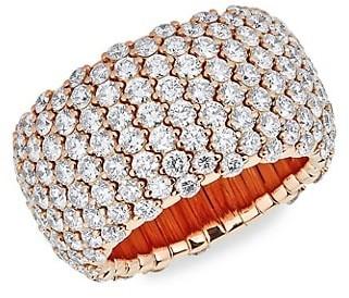 Zydo Stretch 18K Rose Gold & Diamond Ring