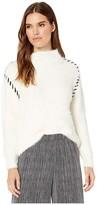 1 STATE 1.State 1.STATE Whipstitch Eyelash Turtleneck (Antique White) Women's Sweater
