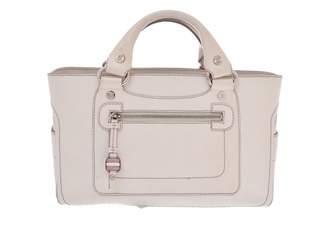 Celine Ecru Leather Handbags