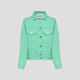 MSGM Italy - Mint Green Denim Jacket - 40