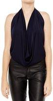 Poshsquare Women's Fashion Soft Basic Solid Color Halter Drape Party Club Top USA T317 M