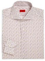 Isaia Floral Printed Dress Shirt