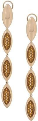 Swarovski Evil Eye Long Drop earrings