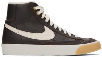 Nike Brown Croc Blazer Mid 77 Vintage Sneakers