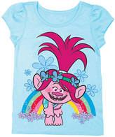 Freeze Trolls Light Blue Poppy Cap-Sleeve Tee - Toddler
