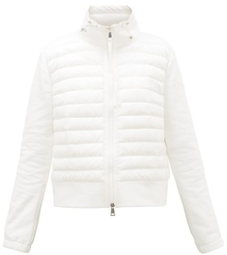 Moncler Quilted Shell And Jersey Jacket - Womens - White