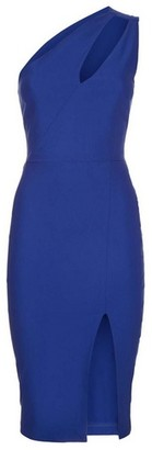 Dorothy Perkins Womens Vesper Blue One Shoulder Pencil Dress, Blue