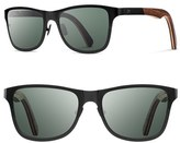 Shwood Men's 'Canby' 54Mm Polarized Titanium & Wood Sunglasses - Black/ Walnut