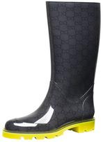 Gucci Flat Neon-Sole Rain Boot, Yellow