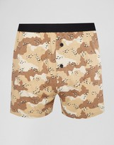 Asos Jersey Boxers With Camo Print