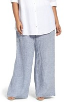 Nic+Zoe Plus Size Women's Drifty Linen Wide Leg Pants
