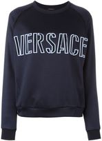 Versace front embroidered logo sweatshirt