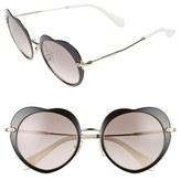 Miu Miu 52mm Round Sunglasses