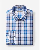 Express slim fit plaid cotton dress shirt
