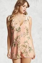 Forever 21 Floral Tie-Shoulder Romper