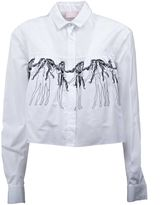 Giamba Embroidered Fitted Shirt