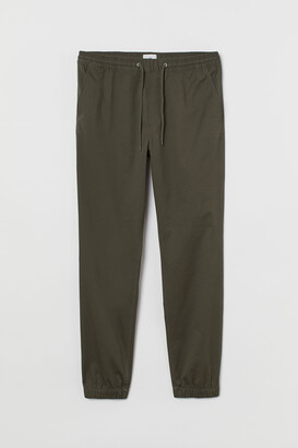 H&M Brushed Cotton Twill Joggers