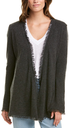 Minnie Rose Frayed Fringe Cashmere Duster