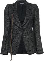Ann Demeulemeester string detail jacket