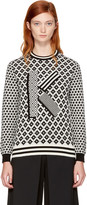 Kenzo Black and Ivory Fairisle k Sweater