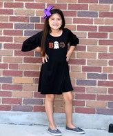 Beary Basics Black 'Boo' Tunic Dress - Toddler & Girls