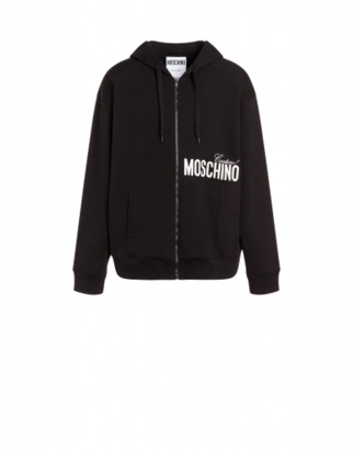 Moschino Couture Cotton Sweatshirt Man Black Size 44 It - (34 Us)