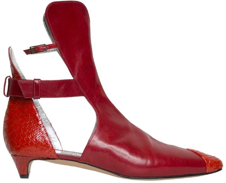 Givenchy Cut-out Leather Ankle Boot