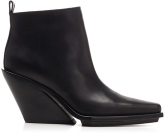 Ann Demeulemeester Angled Heel Ankle Boots