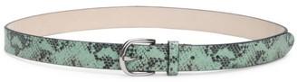 Isabel Marant Zap Snakeskin-Print Leather Belt