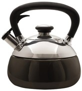 Copco Fusion Tea Kettle - 2 Quarts, Black Enamel on Stainless Steel