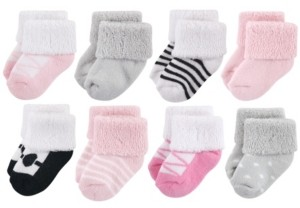 Luvable Friends Baby Socks, 8-Pack, Ballet, 0-12 Months