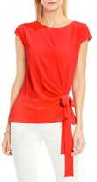 Vince Camuto Petite Women's Mixed Media Tie Front Blouse