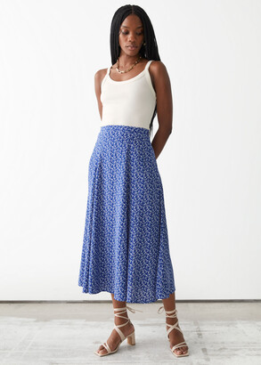 And other stories Printed Maxi Skirt