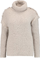 IRO Cliff fringed bouclé turtleneck sweater