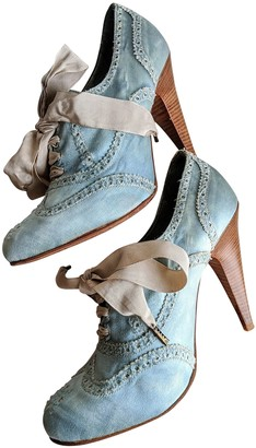 Paul Smith Turquoise Leather Ankle boots