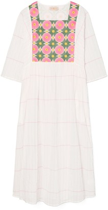 Tory Burch Embroidered Midi Caftan