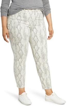 NYDJ Ami Snake Print Skinny Jeans (Plus Size)