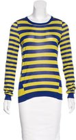Jason Wu Silk Stripe Pattern Sweater