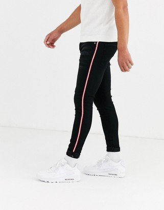 Brave Soul skinny fit jeans with side tape