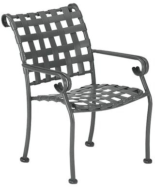 """Woodard Ramsgate Patio Dining Chair Woodard Cushion Color: No Cushion, Frame Color: Weathered White, Seat Height: 17"""""""