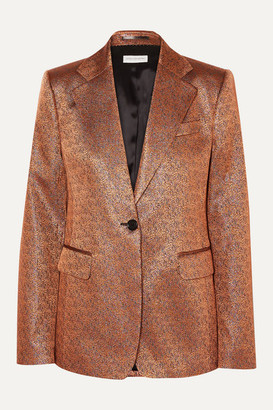 Dries Van Noten Barbilar Lame Blazer - Camel