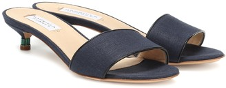 Gabriela Hearst Garcia linen and leather sandals