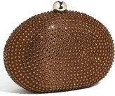 Glint Oval Stone Box Clutch