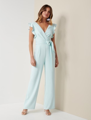 Forever New Catherine Wrap Jumpsuit - Mint - 10