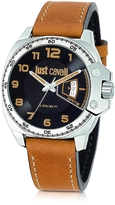 Just Cavalli Just Escape Brown Strap Men's Watch