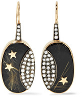 Andrea Fohrman 14-karat Gold, Rhodium-plated And Multi-stone Earrings - one size