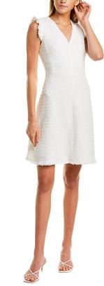 La Vie By Rebecca Taylor Tweed V-Neck A-Line Dress