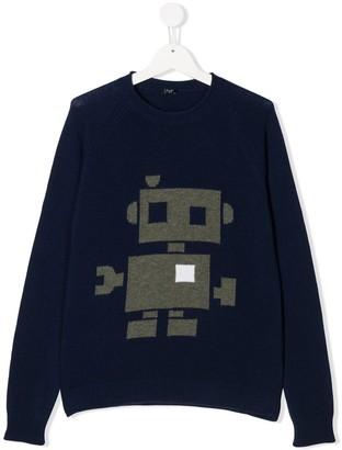 Il Gufo TEEN robot knit jumper