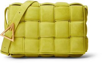Bottega Veneta Intrecciato Padded Suede Messenger Bag